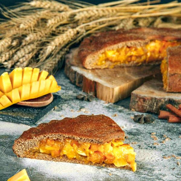 Кусочек полбяного пирога с Манго и Тыквой, 180 г
