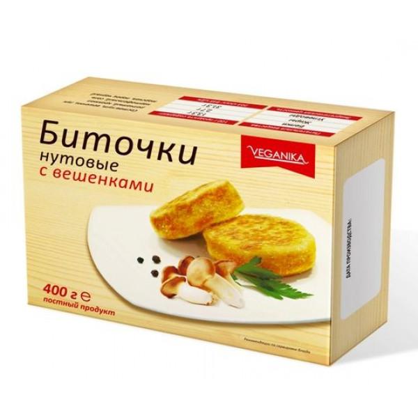 """Биточки Нутовые с Вешенками """"Веганика"""", 400 г"""
