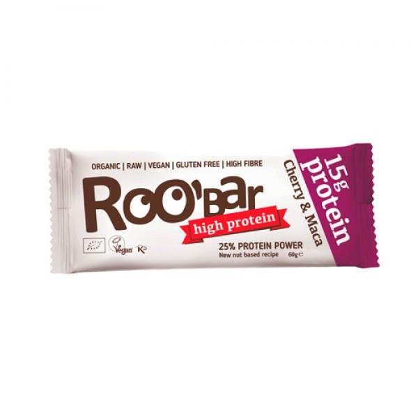 "Батончик протеиновый Roobar ""Вишня и Мака"" / Cherry & Maca, 60 г"