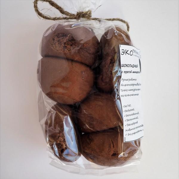Пряники шоколадные с курагой и миндалем
