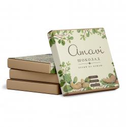 "Шоколад ""Amavi"" Белый на кешью, 70 г"