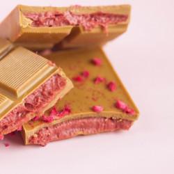 "Шоколад белый гречишный с начинкой ""Малина"" Lubaica, 65 г"