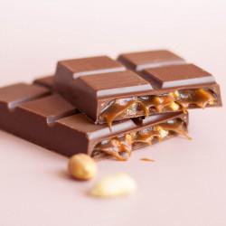 """Шоколад молочный с начинкой """"Соленая карамель и арахис"""" Lubaica, 70 г"""