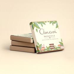 """Шоколад """"Amavi"""" Молочный на миндале, 70 г"""