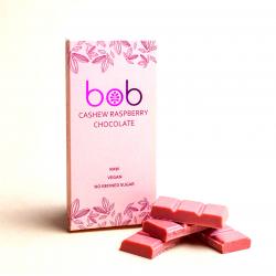 """Шоколад Малиновый на кешью и зеленой гречке """"Bob"""", 50 г"""
