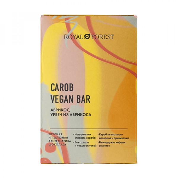 """Веганский шоколад из кэроба """"Абрикос"""" ROYAL FOREST, 50 г"""