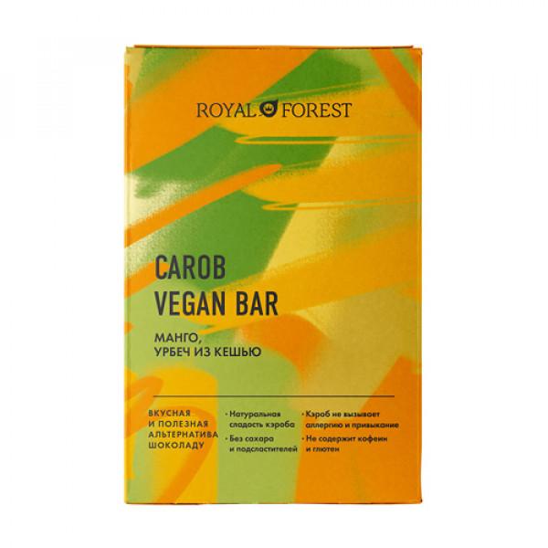 """Веганский шоколад из кэроба """"Манго"""" ROYAL FOREST, 50 г"""