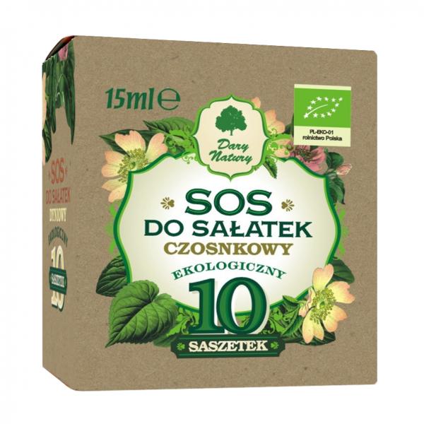 """Соус для салатов """"Чесночный"""" ЭКО в пакетиках, 10х15 мл"""