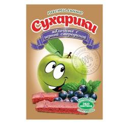 Пастильные сухарики Яблочные с черной смородиной, 60 г