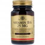 Пищевая добавка витамин B6 Solgar, 100 шт.