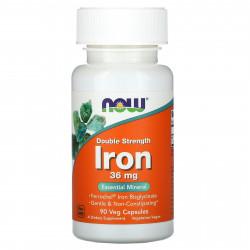 Пищевая добавка Железо Now Foods 36 мг, 90 шт