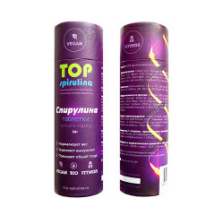 "Спирулина таблетки в тубусе ""TOP Spirulina"", 50 г (100 шт)/100 г (200шт)"