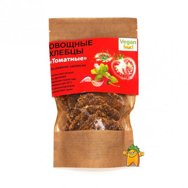 """Хлебцы овощные на ржаной закваске """"Vegan Food"""" Томатные, 100 г"""