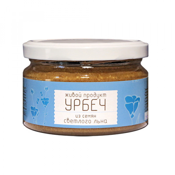 """Урбеч из семян светлого льна """"Живой продукт"""", 225 г"""