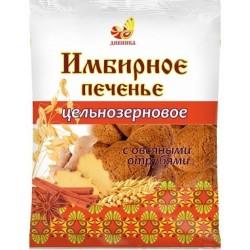 Имбирное печенье цельнозерновое с овсяными отрубями, 300 г