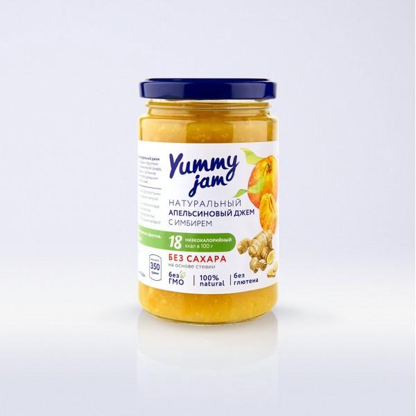 Низкокалорийный джем Yummy Jam апельсиновый с имбирем, 350 г