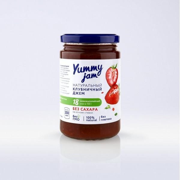Низкокалорийный джем Yummy Jam клубничный, 350 г