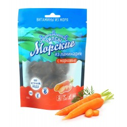 Чипсы «Морские» из ламинарии с морковью, 90 г